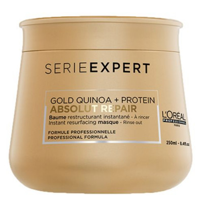 LOREAL   SERIE  EXPERT   ABSOLUT REPAIR  HAIR MASK   250ml  (GOLD QUINOA + PROTEIN)